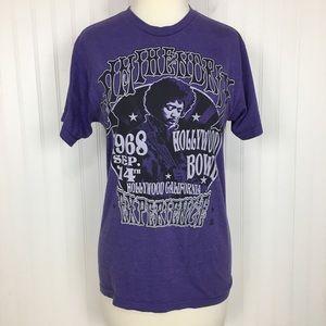 Jimi Hendrix band t-shirt purple stretch top S